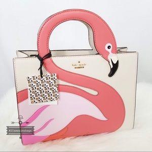 Kate spade by the pool sam bleach satchel flamingo